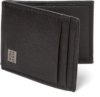 Nautica Black Hampton Flap Credit Card Holder