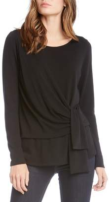 Fifteen-Twenty Fifteen Twenty Drape-Front Side-Tie Sweater