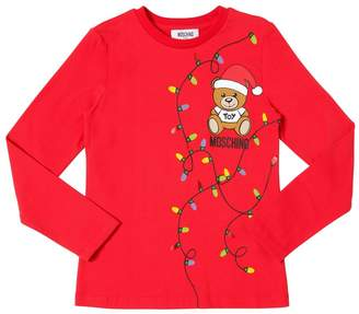 Moschino Santa Bear Printed Cotton Jersey T-Shirt