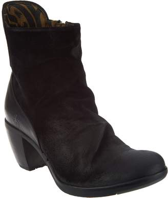 Fly London Leather Heeled Ankle Boots - Hota