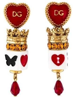 Dolce & Gabbana Heart Dice Earrings