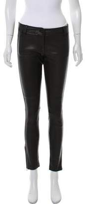 Sass & Bide Leather Mid-Rise Skinny Jeans