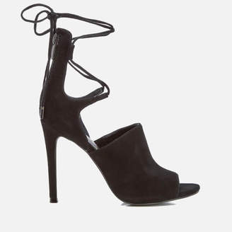 KENDALL + KYLIE Women's Estella Suede Strappy Heeled Sandals - Black