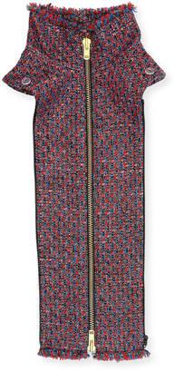 Veronica Beard Adara Tweed Zip-Front Dickey