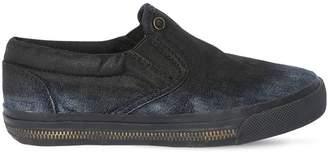 Diesel Zip Midsole Denim Slip-On Sneakers