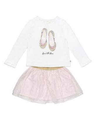 Kate Spade Dance Till Dawn Top W/ Glitter Skirt, Size 12-24 Months