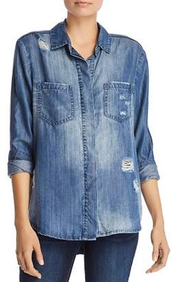Vintage Havana Distressed Chambray Shirt