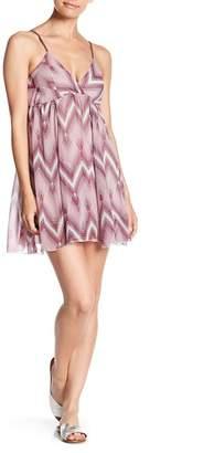 Ocean Drive Braided Strap Print Mini Dress
