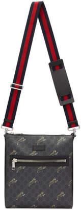 Gucci Black GG Supreme Tiger Bag