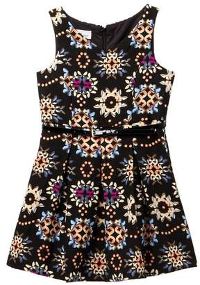 Pippa & Julie Printed Scuba Dress (Big Girls)