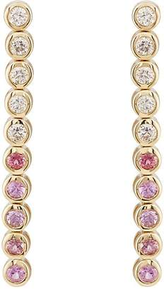 Jennifer Meyer Women's White Diamond & Pink Sapphire Bezel Tennis Earrings