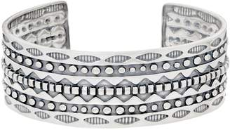 """American West Sterling Silver 1"""" Wide Ancient Wisdom Engraved Cuff"""