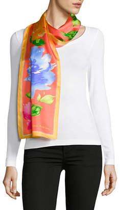 Lauren Ralph Lauren Floral-Print Oblong Silk Scarf