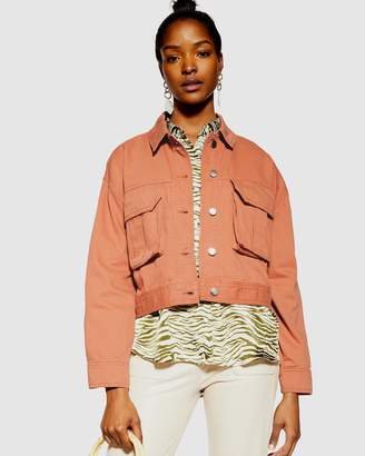 Topshop Cropped Shacket