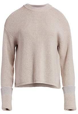 Stella McCartney Women's Cold Shoulder Ribbed Sweater
