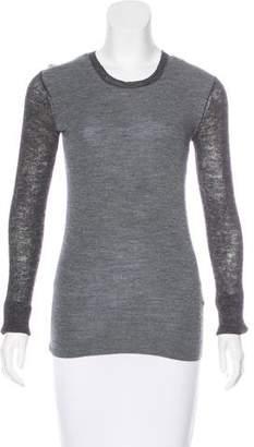 Celine Wool & Alpaca-Blend Colorblock Sweater