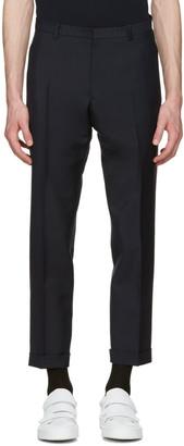 Jil Sander Navy Slim Fit Suit Trousers $600 thestylecure.com