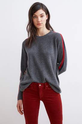 Velvet by Graham & Spencer ELIANA STRIPE CASHMERE CREW NECK SWEATER