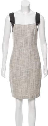L'Agence Leather-Accented Mini Dress