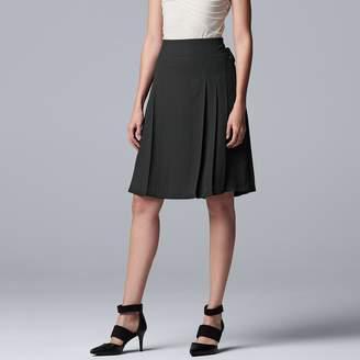Vera Wang Women's Simply Vera Lace-Up A-Line Skirt