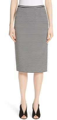 Max Mara Egoista Stripe Pencil Skirt