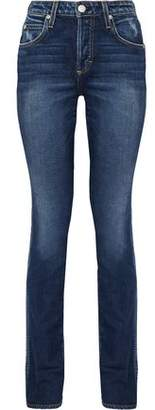 Amo Darlin High-Rise Distressed Straight-Leg Jeans