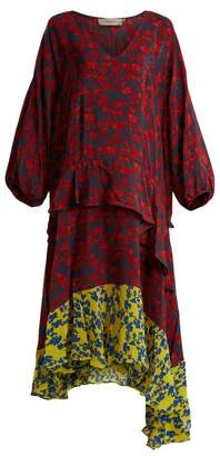 Preen Line Felicity Floral Print Satin Crepe Dress - Womens - Multi