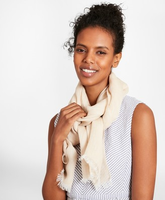 Brooks Brothers Linen Oblong Scarf
