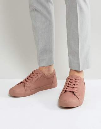 Asos Lace Up Sneakers In Pink