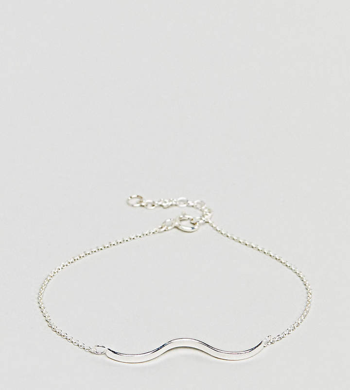 – Armband mit strukturiertem Wellendesign aus Sterlingsilber