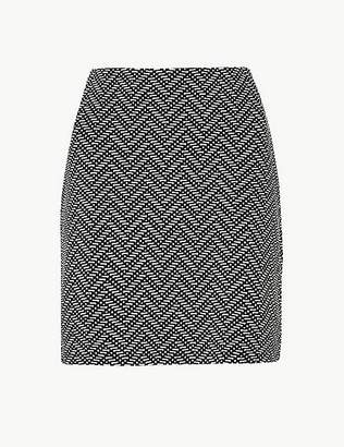 Marks and Spencer Printed Jersey A-Line Mini Skirt