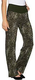 Women with Control Petite Tummy Control Pull-OnPrinted Pants