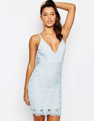 Love Triangle Lace Mini Dress