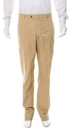 Valentino Flat Front Straight-Leg Pants
