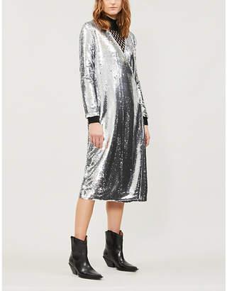 Ganni Sonora sequinned dress