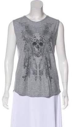 Alexander McQueen Sleeveless Printed Top