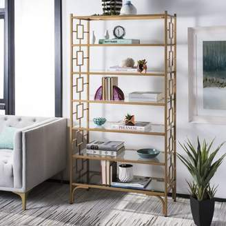 Everly Quinn Kips Bay 7 Tier Etagere Bookcase