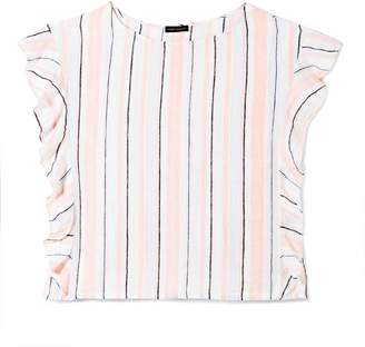 Vince Camuto Striped Linen Ruffle Top