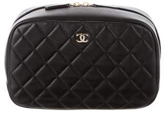 Chanel 2016 Quilted Lambskin Cosmetic Case