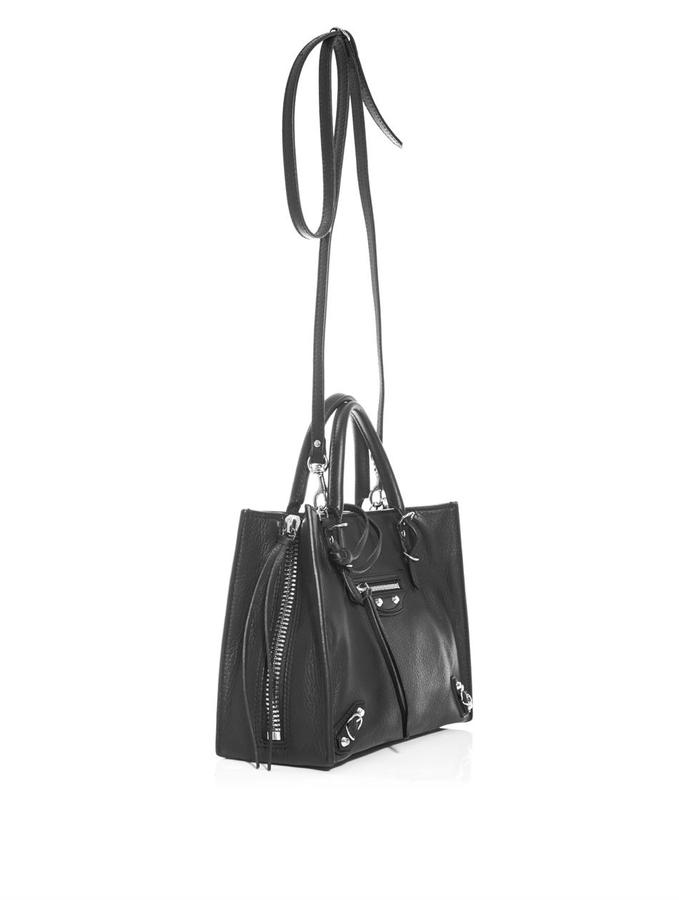 Balenciaga Mini Papier leather shoulder bag