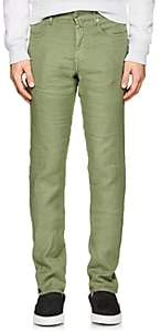 Incotex Men's Ray 5-Pocket Linen-Blend Pants - Green