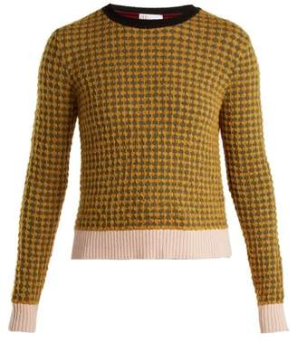 RED Valentino Textured Knit Sweater - Womens - Yellow Multi