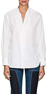 TOMORROWLAND Women's Cotton Poplin V-Neck Blouse-White