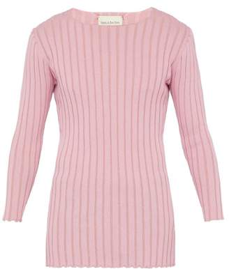 Ludovic De Saint Sernin - Ribbed Cotton Jersey Top - Mens - Pink
