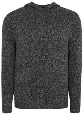 George Dark Grey Tonal Fine Knit Hooded Knitted Jumper