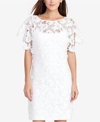 Lauren Ralph Lauren Floral-Lace Dress $195 thestylecure.com