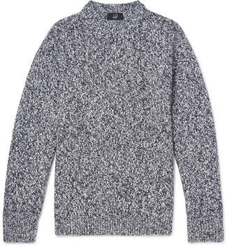 Dunhill Slub Wool and Cashmere-Blend Sweater - Men - Gray