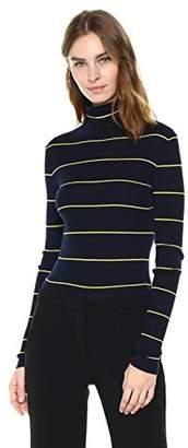 Theory Women's Striped Long Sleeve Crop Tneck