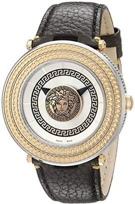 Versace Men's VQL010015 V-Metal Icon Analog Display Swiss Quartz Watch