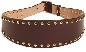 Alexander McQueen Stud-embellished leather waist belt